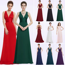 Ever-Pretty Long Deep V-neck Bridesmaid Dresses Party Prom Evening Gown 09008