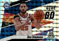 2019-20 Panini Mosaic Give and Go Mosaic #2 Ben Simmons 76ers