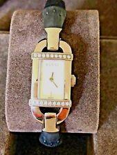 Beautiful GUCCI Women's Silver Tone Dial 6800L Series Diamond Bamboo Band Watch