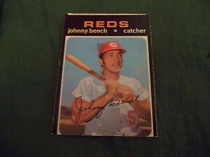 1971 OPC O-Pee-Chee #250 Johnny Bench Cincinnati Reds - exmt