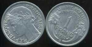 FRANCE FRANCIA  1 franc MORLON ALU 1958 B  ( SUP )