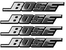 4PCS SELF ADHESIVE 3D BOSE CAR AUDIO SPEAKER ALUMINIUM BADGE STICKER EMBLEM