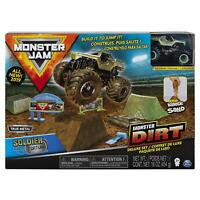 Monster Jam Kinetic Sand with Soldier Fortune Truck Vehicle