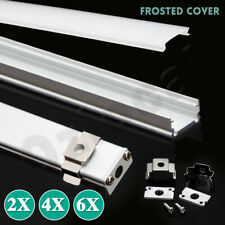 1M Alloy Channel Aluminum Bar With Frosted Cover Profile For LED Strip Light