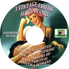 3 CLASSIC VINTAGE EROTIC BOOKS - AUDIOBOOK - DVD - WEDEKIND, PERCIVAL, GOETH
