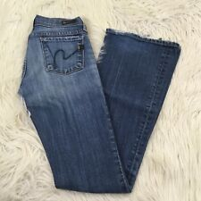 Citizens of Humanity Womens Size 24 Ingrid #002 Low Waist Flare Jeans Denim Blue