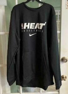 Men's Nike NBA Miami Heat Dri-Fit Black Comfort Pullover AV1391-010 Size S