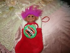 """NEW ADOPT A NORFIN TROLL 9"""" CHRISTMAS STOCKING"""