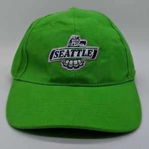 Seattle Thunderbirds WHL Embroidered Logo Hat Strapback Dad Cap Lime Green NEW