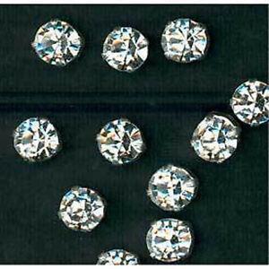 3.5mm x 10 Brilliant Cut Sew On Diamontes Rhinestones Crystals Dress Decor