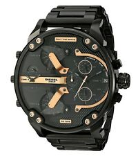 BRAND NEW DIESEL DADDY 2.0 CHRONOGRAPH BLACK STAINLESS STEEL MEN WATCH DZ7312