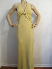 NWT St John Knit Couture Gown yellow lemon grass size 8 wool