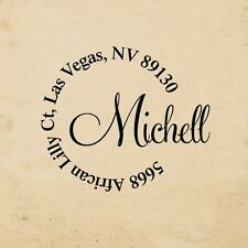 Personalized Custom Name Greeting Card, Address Handle Mounted Rubber Stamp R487