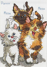 Cross Stitch Kit ~ Suzy's Zoo / Janlynn Cattails of Duckport Cats #038-0208