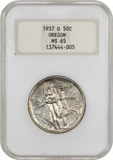1937-D Oregon 50c NGC MS65 (OH) Low Mintage Issue - Silver Classic Commemorative