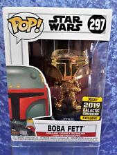 Funko Pop Vinyls Star Wars 297 MIB Boba Fett with Protector 2019