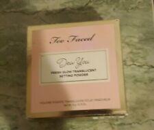 Too Faced Dew You Fresh Glow Translucent Setting Powder in radient caramel ~NIB