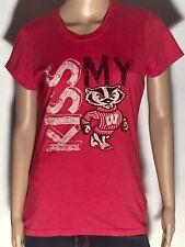Kiss My Badger Wisconsin Badgers Ncaa College Team Logo Mascot Large T-shirt