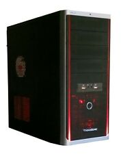Avenge Power Bos Mid Tower Black Case with 120mm Red LED Fan