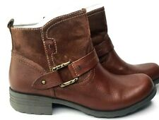NIB Women's Earth Origins by Earth Paris Leather Ankle Boots Brown Size 10