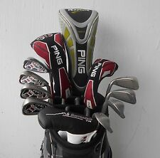 COMPLETE SET MEN'S RH PING GOLF CLUBS DRIVER FAIRWAY HYBRID IRON SET PUTTER!