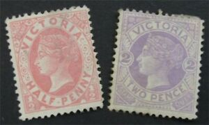 nystamps British Australian States Victoria Stamp # 146.148 MOGH / NG  S24x1620