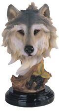 8.5 Inch Wolf Head Bust Nature Wildlife Animal Statue Collectible Wild Figurine