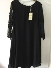 Monsoon Black Dress 'Abigail' Size 14 BNWT