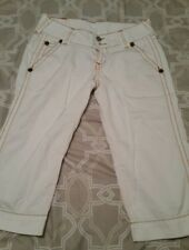 Women's True Religion White Fun Capris - Size 30 Waist