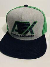 New Armani Exchange AX Mens BASEBALL CAP WITH STRAIGHT VISOR