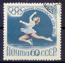 SOVIET UNION 1960 Olympic Winter Games 60 K figure skater VFU MISSING YELLOW