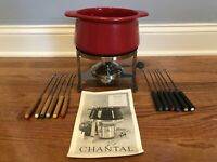 Chantal Ceramic Fondue Set - Ceramic Pot,12 Stainless Steel Forks