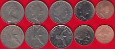 Bermuda set of 5 coins: 1 - 25 cents 1970-2017