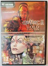 GOTHIC II + ARCANUM - PC COMPUTER USATO