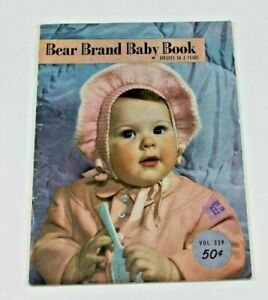 Bear Brand Baby Book Infants to 4 Years Vintage 1950 Sewing Knitting Book Plans
