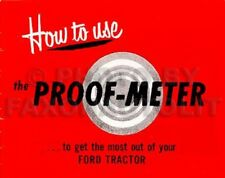 Ford 8N Tractor and Proof Meter Owners Manual Set of 2 Guide Books 1948-1952