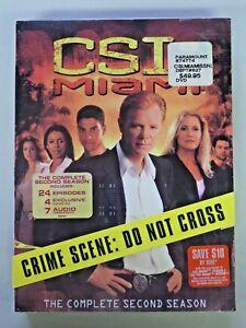 CSI: MIAMI The Complete Second Season DVD Sealed NEW
