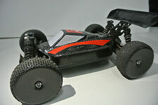 U.S. STOCK LOSI 1/14 MINI 8IGHT EIGHT 2XCFL REAL CARBON FIBER RACE  BODY