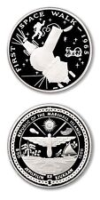 Marshall Islands First Space Walk 1965 $50 1989 Proof Silver Crown