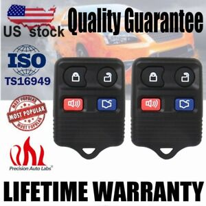 2 Remote Control 4 Buttons Key Fob Car Keyless Entry For Ford Escape 2003-2007