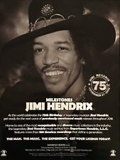 Jimi Hendrix 75th Birthday advertisement for previously unreleased tracks