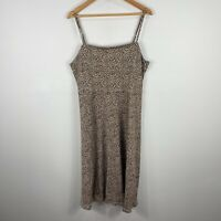 Sportsgirl Womens Dress XL Multicoloured Leopard Print Sleeveless Square Neck