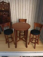Tall Bar Table And 3 Stools