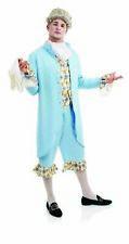 Mens Blue Georgian Gentleman Costume M L XL Adult Aristocrat Gent Fancy Dress