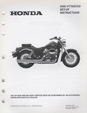 2000 HONDA MOTORCYCLE VT750C/CD SET-UP PRE-DELIVERY INSTRUCTION MANUAL (467)