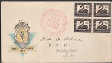 1954 Western Australia Stamp Exhibition Wapex Hermes Cover Red Ink Cancel