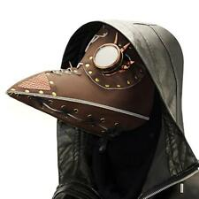 Leather Plague Doctor Mask Bird Beak Steampunk Face Mask For Cosplay Props