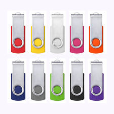 10pcs Swivel USB 2.0 Metal Flash Memory Stick Pen Drive Storage Thumb U Disk Lot