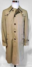 Christian Dior Paris Mens Tweed Lined Overcoat Trench Coat 40L HOUSE OF DIOR