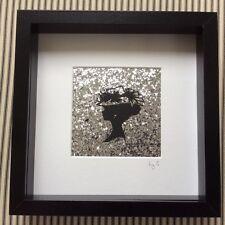 Fatto a mano 3D Cameo Lady Silhouette foto BOX FRAME 25cmx25cm Muro Appeso